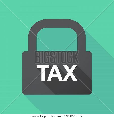 Long Shadow Lock With  The Text Tax