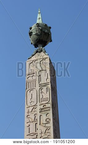 The huge granite obelisk of Montecitorio was brought to Rome from Heliopolis in Egypt by Emperor Augustus in 10 BC.