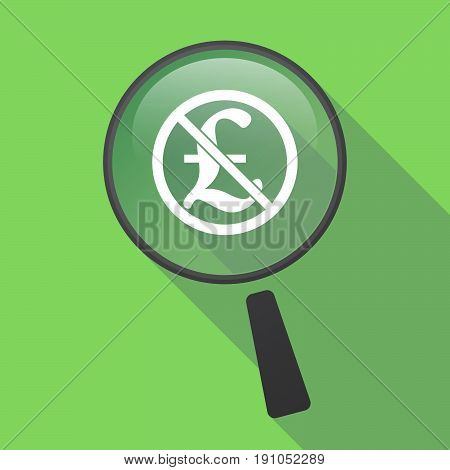 Long Shadow Loupe With  A Pound Sign  In A Not Allowed Signal