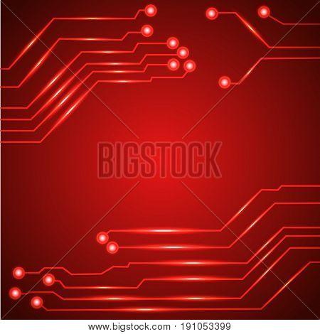 Vector illustration of Hi tech circuit board.
