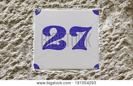 Number Twenty Seven