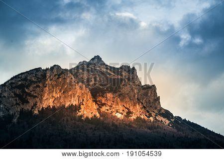 A beautiful Rozsutec mountain view of Mala Fatra in Slovakia.