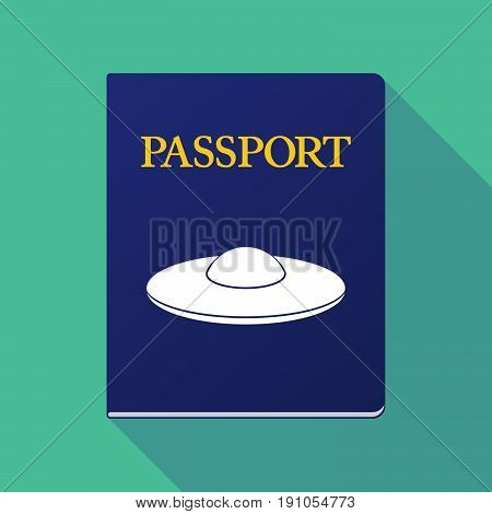 Long Shadow Passport With  A Flying Saucer Ufo
