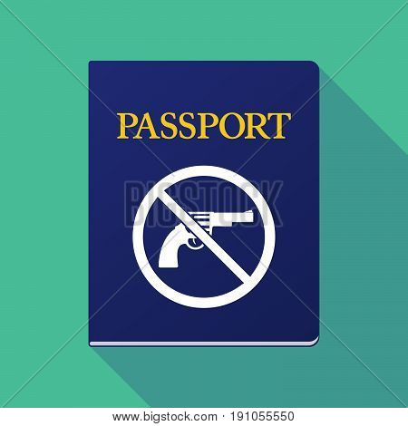 Long Shadow Passport With  A Gun  In A Not Allowed Signal
