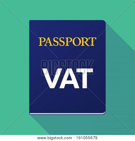 Long Shadow Passport With  The Value Added Tax Acronym Vat