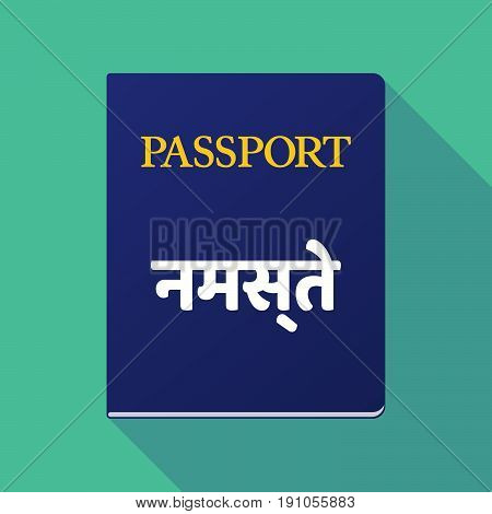 Long Shadow Passport With  The Text Hello In The Hindi Language