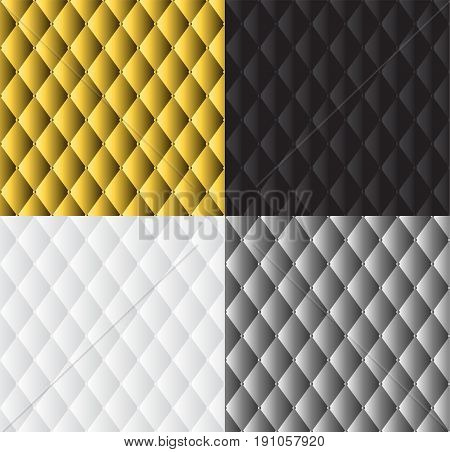 vector abstract white grey silver black and gold upholstery background