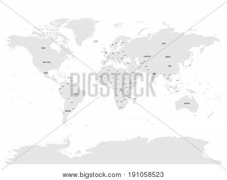 Political map of world with in grey. EPS10 vector illustration.