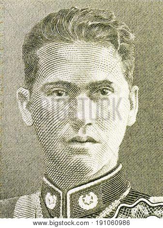 German Busch Becerra portrait from Bolivian money