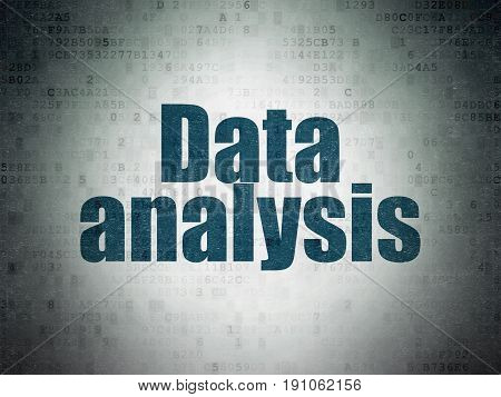 Data concept: Painted blue word Data Analysis on Digital Data Paper background