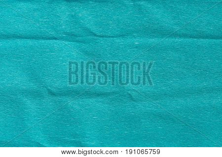 Paper textures concept. Abstract blue crumpled creased texture paper for background.