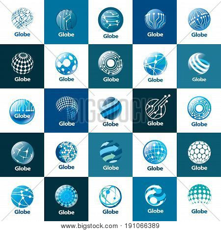 template logo design globe. Vector illustration icon