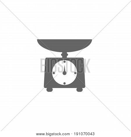 Libra vector icon illustration. Food scales for weighing