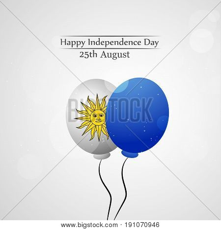 illustration of Balloon with Happy Independence Day 25th August Text