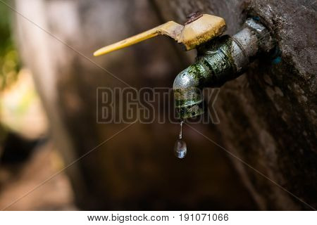Drop of water close up. Water is life concept.