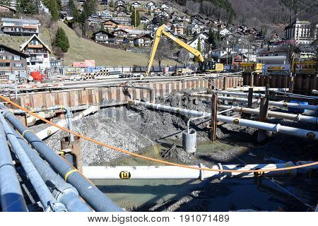 Excavations For The Foundations Of A House At Engelberg