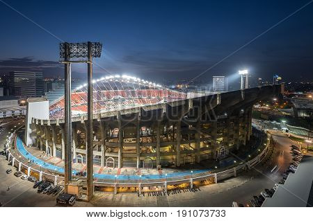 Panorama view of Football stadium in city