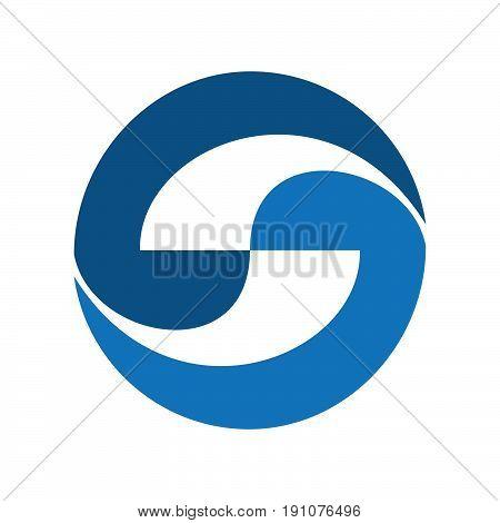 Letter S logo icon design template elements. Logo initial letter S.