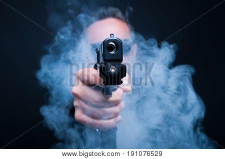 Mafia Gunman Being Ready To Shoot
