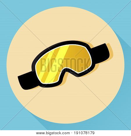 Vector ski and snowboarding protective goggles. Isolated icon