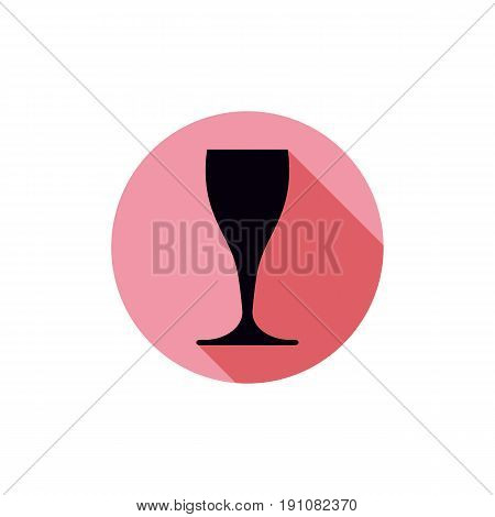 Sophisticated Wine Goblet, Stylish Alcohol Theme Illustration. Classic Wineglass, Romantic Rendezvou