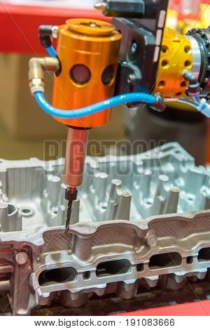 robot grinding machine car part industrial manufacture factory,Industrial 4.0 concept .
