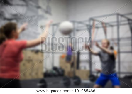 Healthy Lifestyle Gym Work out concept background blurred