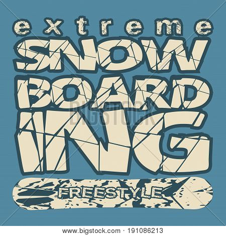 T-shirt snowboarding extreme sports athletics Typography Fashion college sport design the logo graphic print image design fashion Typography original design clothing