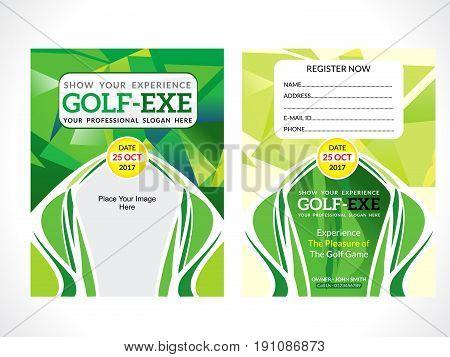 creative detailed green golf flyer vector illustration