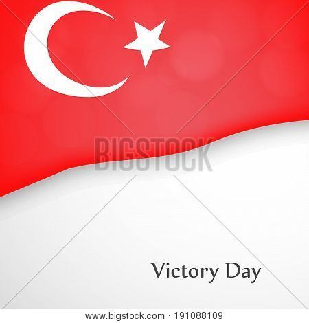 illustration of turkey flag background with Victory Day text on the occasion of Turkey independence day