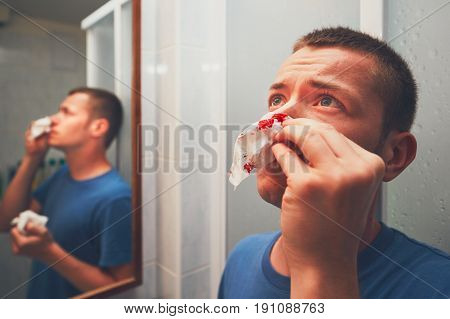 Man With Nose Bleed