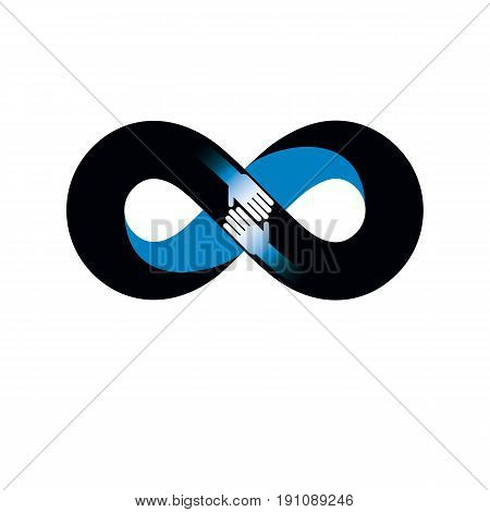 Infinite Friendship, Friends Forever, Special Vector Logo Combined With Two Symbols Of Eternity Loop