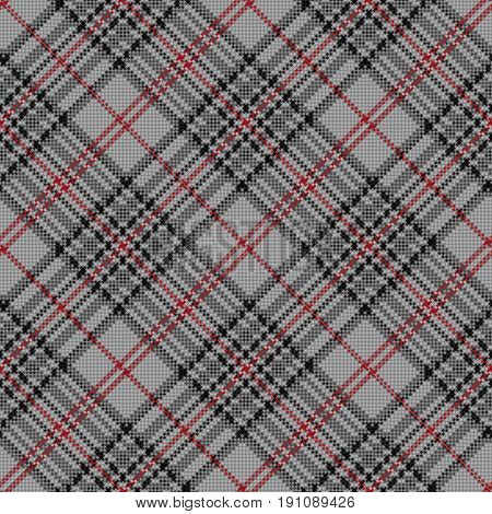 Diagonal Seamless Checkered Pattern In Grey And Red