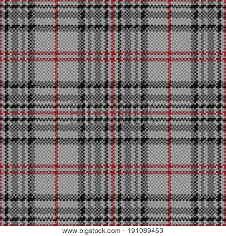Rhombic Seamless Checkered Pattern In Grey And Red
