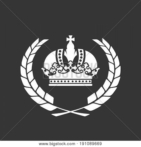 Family blazon or coat of arms - heraldic crown and laurel wreath