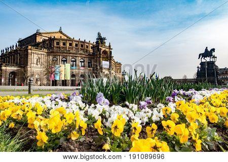 Dresden, Germany - June, 2016: Dresden Opera Theater