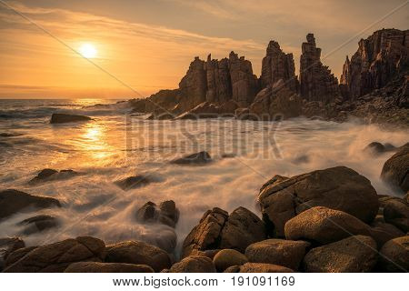 The Pinnacles the most spectacular landscape for photographer in Phillip Island of Victoria state of Australia.