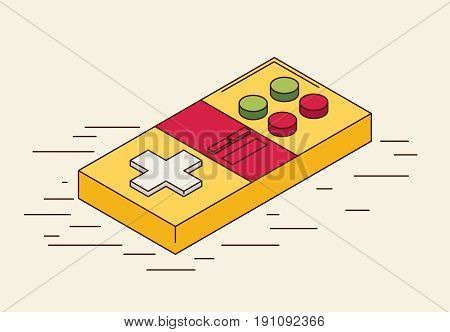 Gaming isometric vector icon in flat style