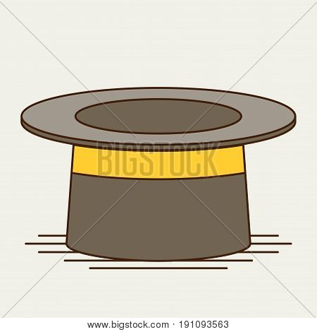 Cylinder gentleman hat. flat vector icon for design and web