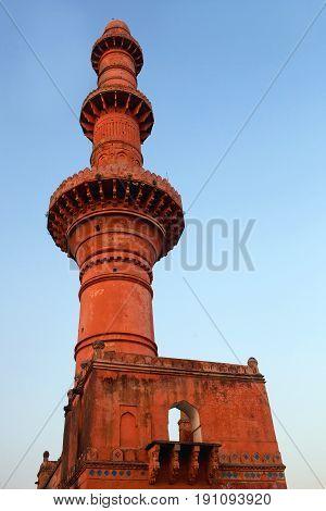 Chand Minar Tower In Daulatabat Fort In Maharashtra, India