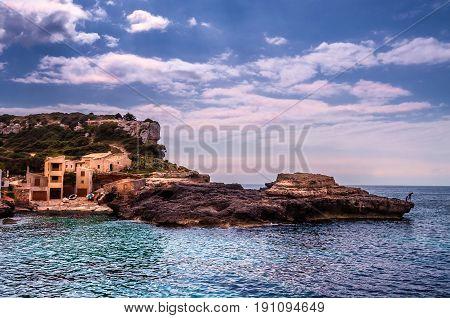 Small place in Majorca. Mediterranean sea. SAlmunia