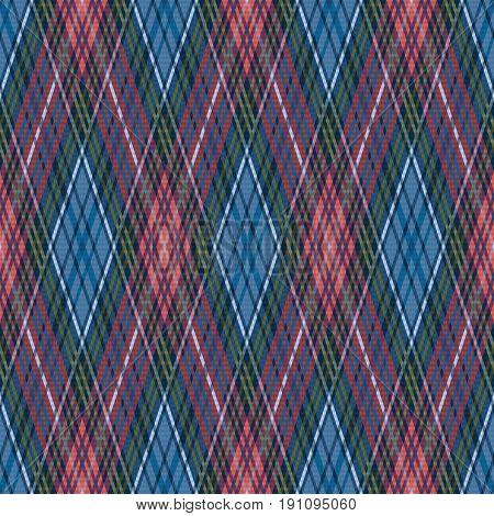 Seamless Checkered Rhombic Pattern