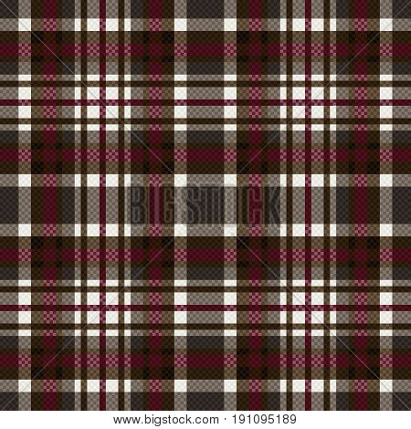 Seamless Checkered Pattern In Grey, Brown And Red