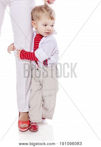 Son Holding Mother
