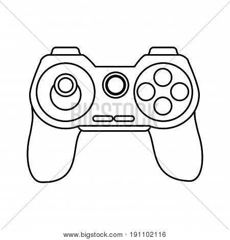 controller videogames related icon image vector illustration design  black line