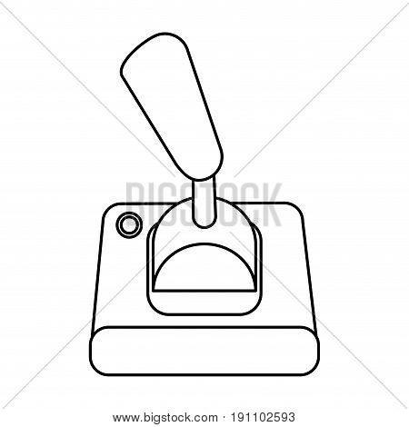 joystick videogames related icon image vector illustration design  black line