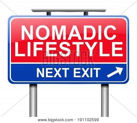 Nomadic Lifestyle Concept.
