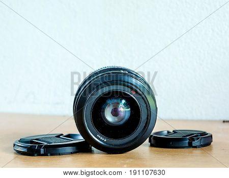 closed up camera lense auto focus ,