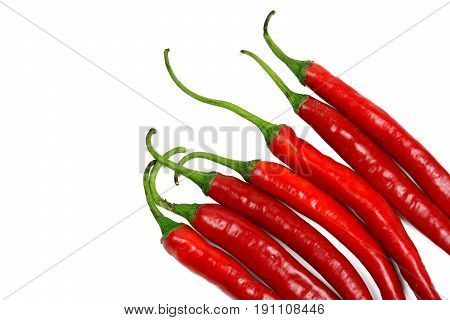 Close-up chili pepper isolated on white background