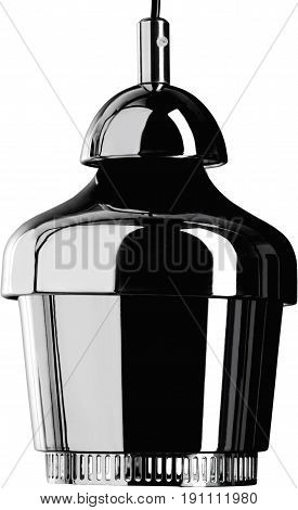 Metal glossy hanging Lamp. lamp isolated on white